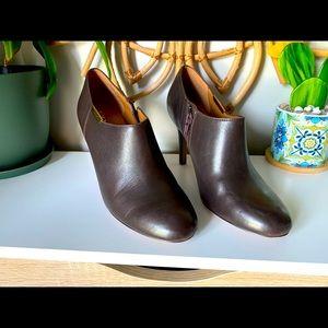 Coach Seneca Glazed Leather Booties